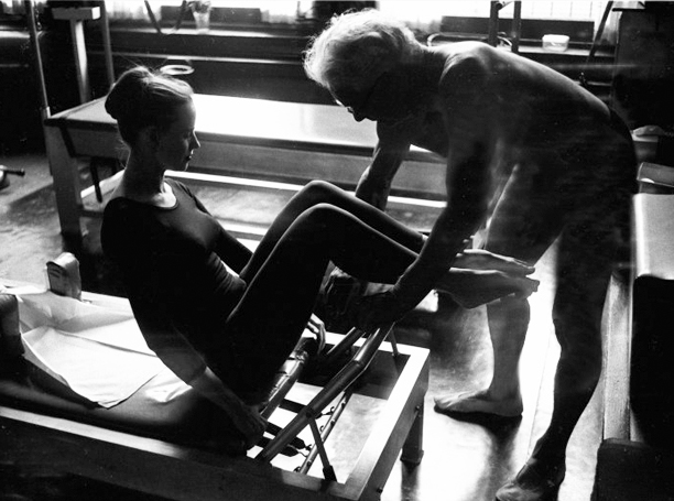 Joseph Pilates with dancer
